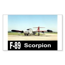F-89 SCORPION FIGHTER Rectangle Decal