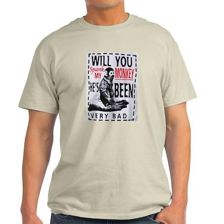 Spank my monkey Light T-Shirt