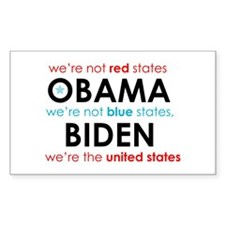Blue States Red States Rectangle Decal