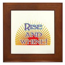 Rise and Whine Framed Tile