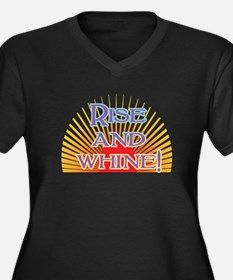 Rise and Whine Women's Plus Size V-Neck Dark T-Shi