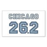 Chicago 26.2 Marathoner Rectangle Sticker 50 pk)