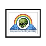 Wizard of Oz Rainbow Quote 1 Framed Panel Print
