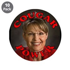 Sarah Palin: Cougar Power Button (10 pack)
