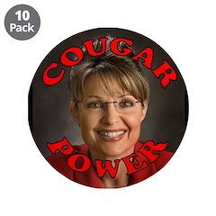 Sarah Palin: Cougar Power Button (10 pack)