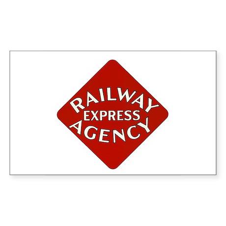 Railway Express Color Logo Rectangle Sticker