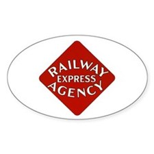 Railway Express Color Logo Oval Decal