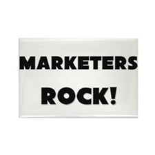 Marketers ROCK Rectangle Magnet