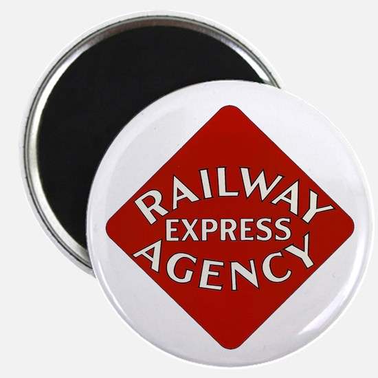 Railway Express Color Logo Magnet