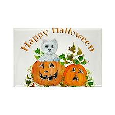 Halloween Westie Terrier Rectangle Magnet