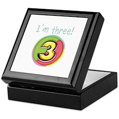 I'm Three Keepsake Box