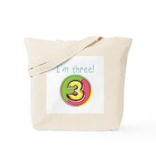 I'm Three Tote Bag