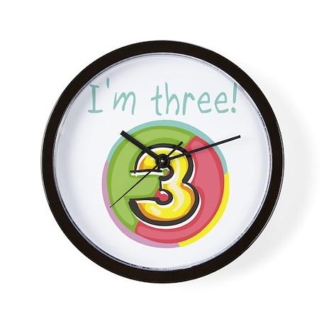 I'm Three Wall Clock