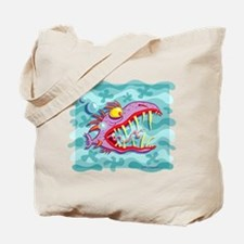 Purple Piranha Tote Bag