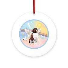 Saint Bernard Angel in Heaven Ornament (Round)