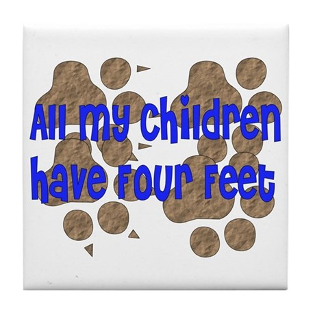 Four-Footed Children Tile Coaster