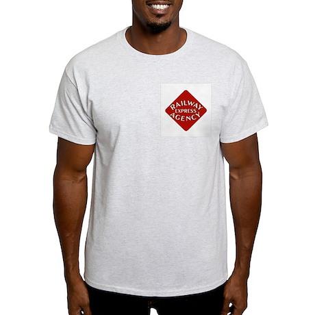 Railway Express Color Logo Ash Grey T-Shirt