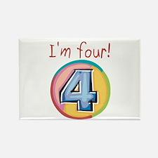 I'm Four Rectangle Magnet