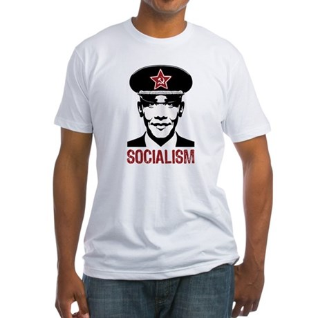 Obama Socialism Fitted T-Shirt