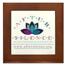 After Silence Lotus Design Framed Tile