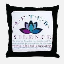 After Silence Lotus Design Throw Pillow