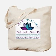 After Silence Lotus Design Tote Bag
