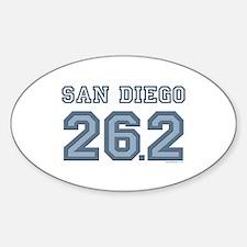 San Diego 26.2 Marathoner Oval Decal
