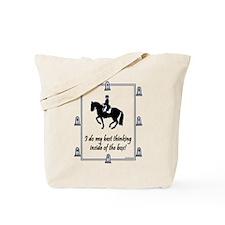 Dressage Box Thinking Tote Bag