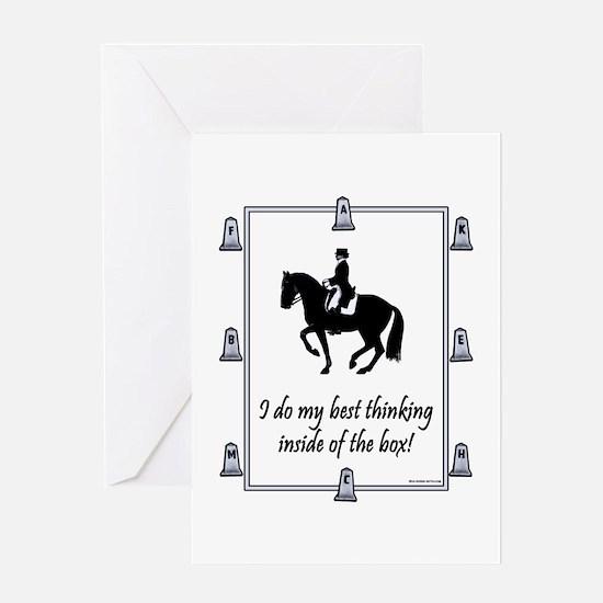 Dressage Box Thinking Greeting Card