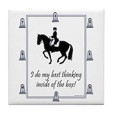 Dressage Box Thinking Tile Coaster