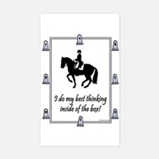 Dressage Box Thinking Rectangle Decal