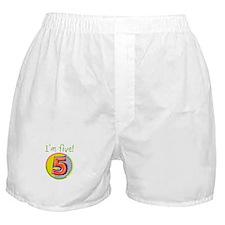 I'm Five Boxer Shorts