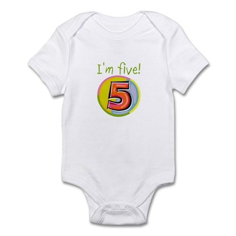 I'm Five Infant Bodysuit