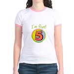 I'm Five Jr. Ringer T-Shirt