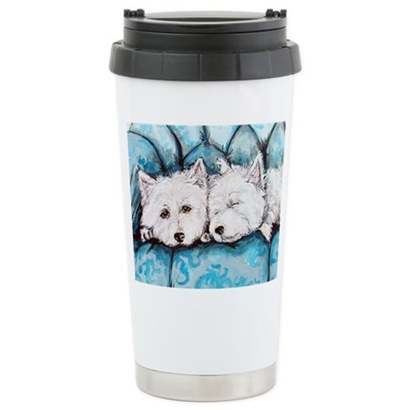 Westie Couch Potatoes Stainless Steel Travel Mug