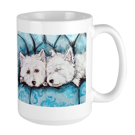 Westie Couch Potatoes Large Mug