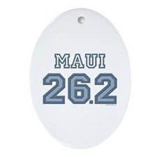 Maui 26.2 Marathoner Oval Ornament