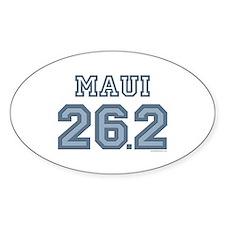 Maui 26.2 Marathoner Oval Decal