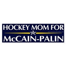 Hockey Mom for McCain-Palin Bumper Bumper Sticker