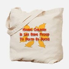 Pecked By Ducks Tote Bag