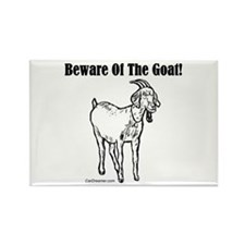 Beware of the Goat! Rectangle Magnet