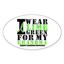 Lymphoma Grandma Oval Sticker (10 pk)
