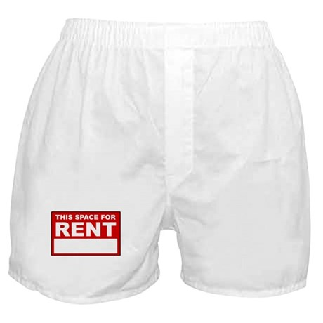 """This Space For Rent"" Boxer Shorts"