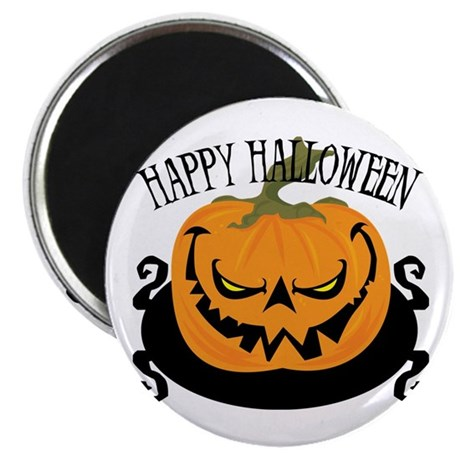 """Scary Pumpkin 2.25"""" Magnet (10 pack)"""