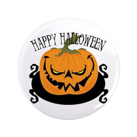"Scary Pumpkin 3.5"" Button"