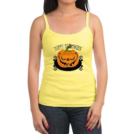 Scary Pumpkin Jr. Spaghetti Tank