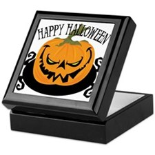 Scary Pumpkin Keepsake Box