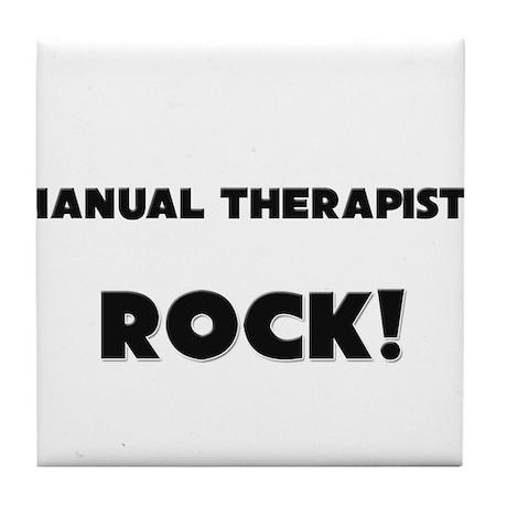 Manual Therapists ROCK Tile Coaster