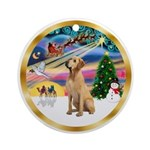 XmasMagic/Yellow Labrador Ornament (Round)