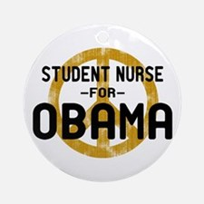 Student Nurse for Obama Ornament (Round)